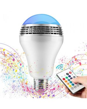 Bluetooth LED Bulb Color Music Speaker