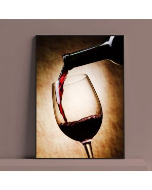 Red Wine Glass Oil Painting