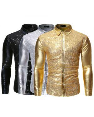 Fashion Sequin Metallic Shirt