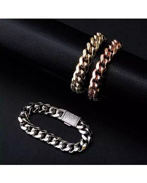 Box Clasp Cuban Bracelet