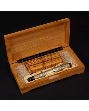 Chinese Oriental Dragon Fountain Pen with Original Box