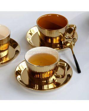 European Luxurious Golden Ceramic Coffee Cup