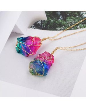 Fashion Irregular Rainbow Crystal Stone
