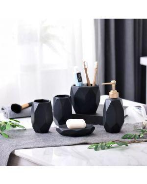 Geometric Ceramic Bathroom Set