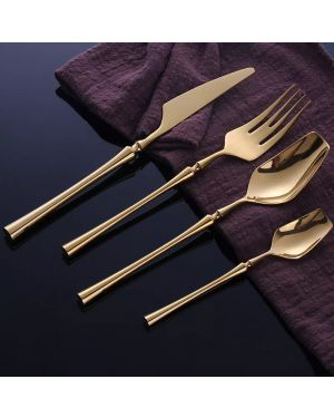 Gold Cutlery Dinnerware Luxury Set