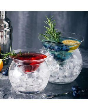 Molecular Triangle Cocktail Iced Glass