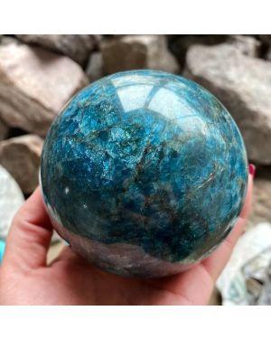 Natural Blue Apatite Stone Sphere