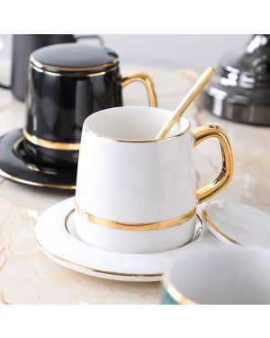 Northern Europe Concise Stripe Ceramics Coffee Cup