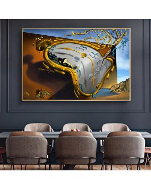 Salvador Dali The Persistence of Memory Canvas Painting